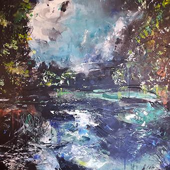 Carole Bressan Poétiques du paysage LII, 2019 - 100 x 100 cm