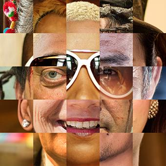 Julie Guehria Famille lunettes, 2018 - Puzzle photographique, 20 x 20 cm, 400 €