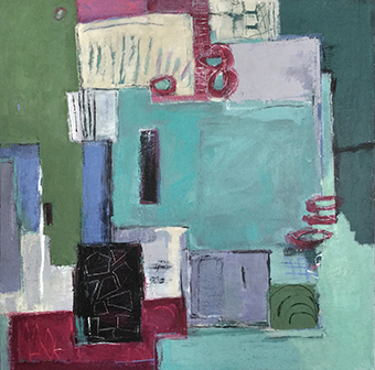 Sophie Chauchat Domaines et fortifications, 2019 - Acrylique sur toile, 80 x 80 cm, 1 000 €